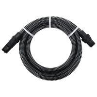 vidaXL Manguera de succión con conectores PVC 10 m 22 mm negra