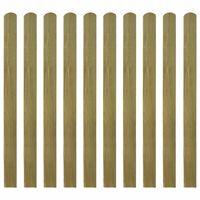 vidaXL Valla de jardín de listones 10 piezas madera 120 cm