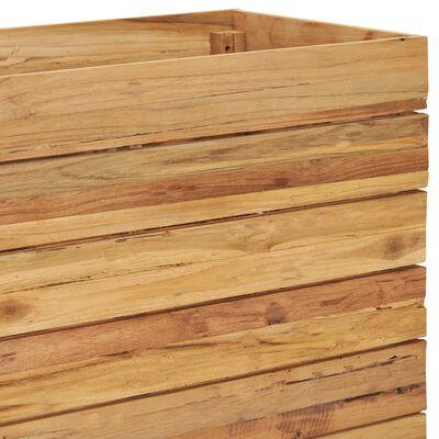 vidaXL Arriate de teca reciclada y acero 150x40x55 cm