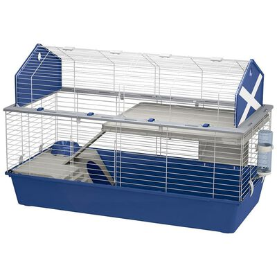 Ferplast Jaula de conejos Barn 120 azul 119x58x77 cm