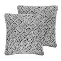 Conjunto de 2 cojines decorativos gris 45x40 cm KIZKALESI