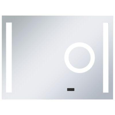 vidaXL Espejo de pared para baño con LED y sensor táctil 80x60 cm