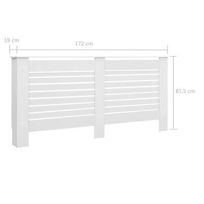 vidaXL Cubierta para radiador MDF blanco 172x19x81,5 cm