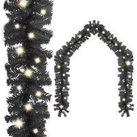 vidaXL Guirnalda de Navidad con luces LED negro 20 m