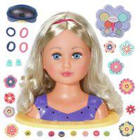 BABY Born Cabeza de muñeca de peinados Sister 27 cm
