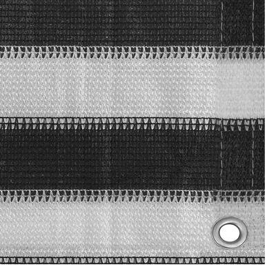 vidaXL Toldo para balcón HDPE 90x500 cm gris antracita y blanco