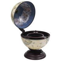 vidaXL Mueble bar de bola del mundo madera de eucalipto verde