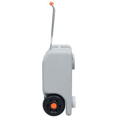 vidaXL Depósito de agua con ruedas para camping gris 25 L