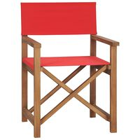 vidaXL Silla de director de madera maciza de teca roja