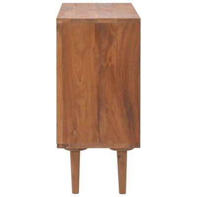 vidaXL Cajonera de madera maciza de teca 90x35x75 cm
