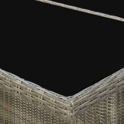 vidaXL Set de comedor jardín 9 piezas cojines ratán sintético marrón
