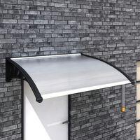 vidaXL Marquesina para puerta PC 120x100 cm