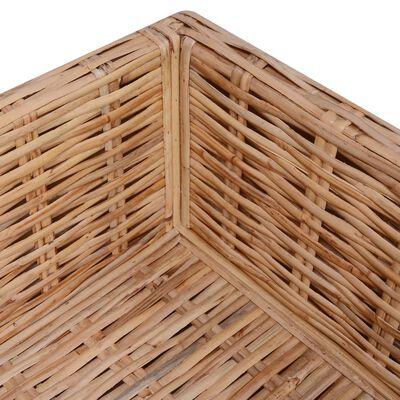vidaXL Juego de sofás de 14 piezas ratán natural