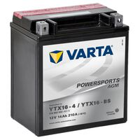 Batería para motocicleta Varta AGM, 12 V 14 Ah YTX16-4 / YTX16-BS