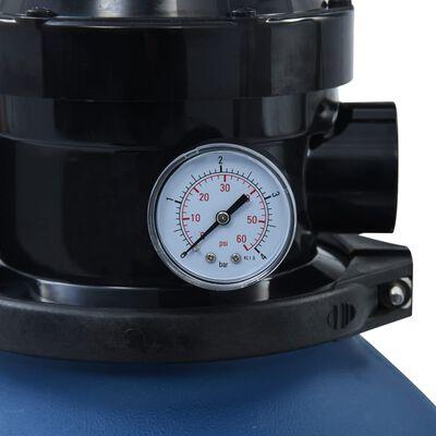 vidaXL Filtro de arena piscina con válvula de 4 posiciones azul 300 mm
