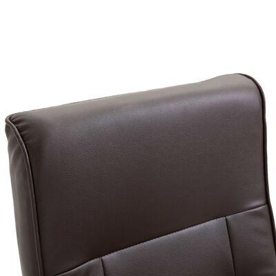 vidaXL Sillón giratorio para TV de cuero artificial marrón
