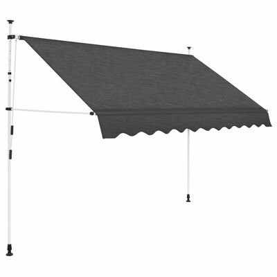 vidaXL Toldo retráctil de operación manual antracita 300 cm
