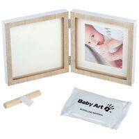 Baby Art Marco de impresion de huellas de bebé cuadrado madera