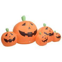 vidaXL Familia de calabaza inflable de Halloween con LED 1,8 m