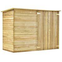 vidaXL Cobertizo para jardín de madera pino impregnada 232x110x170 cm