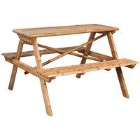 vidaXL Mesa de picnic de bambú 120x120x78 cm
