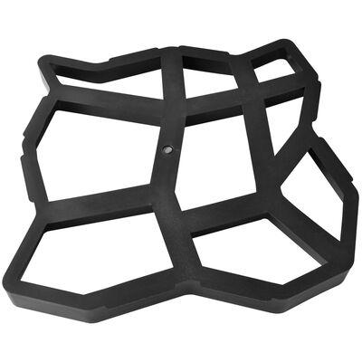 vidaXL Moldes de pavimento para el jardín 2 unidades 42x42x4 cm
