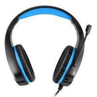 Auriculares para juegos con conector jack de 3,5 mm - negro / azul