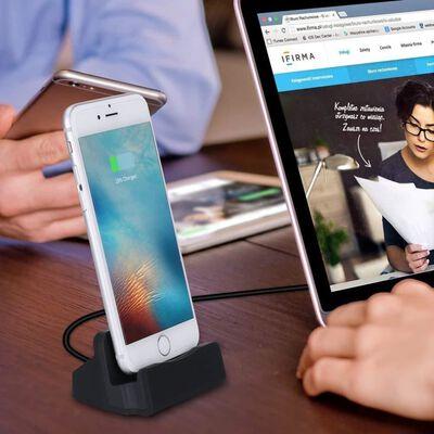 iPhone Lightning Dock - estación de acoplamiento con cable USB - negro