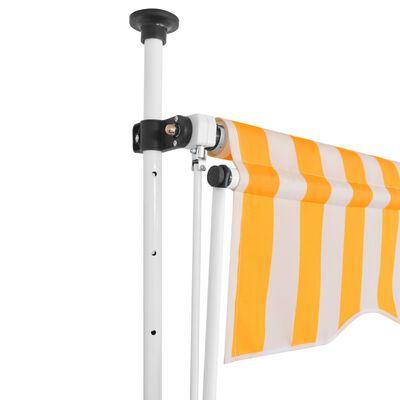 vidaXL Toldo manual retráctil 150 cm naranja y blanco a rayas