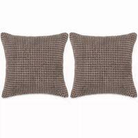 vidaXL Cojines de terciopelo 45x45 cm marrón 2 unidades