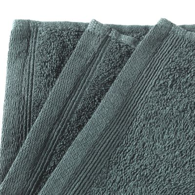 vidaXL Toallas de cortesía 10 uds algodón verde 450 g/m² 30x50 cm