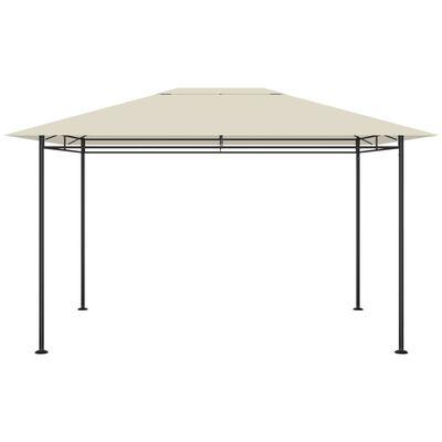 vidaXL Cenador gris taupé 4x3x2,7 m 180 g/m²