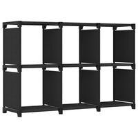 vidaXL Estantería de 6 cubos de tela negra 103x30x72,5 cm