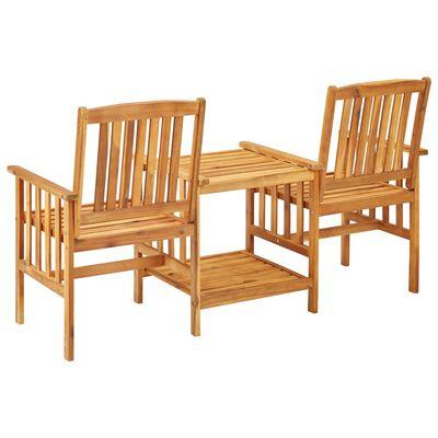 vidaXL Sillas y mesita de jardín con cojines madera maciza acacia