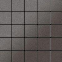 ALLOY Century-Ti-SB Mosaico de metal sólido Titanio gris
