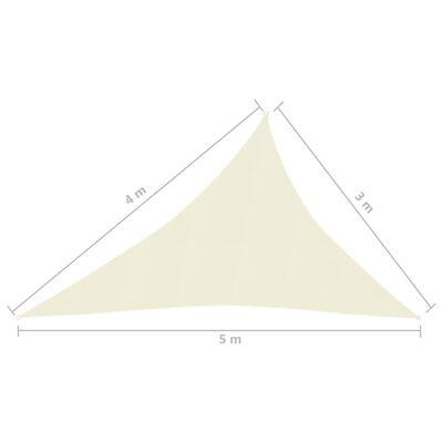 vidaXL Toldo de vela crema HDPE 160 g/m² 3x4x5 m