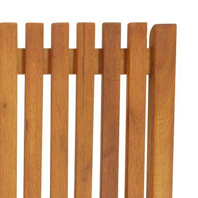 vidaXL Tumbona de madera maciza de acacia