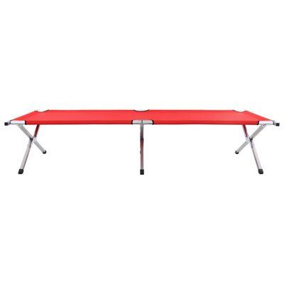 vidaXL Cama de camping rojo XXL 210x80x48 cm