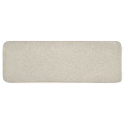 vidaXL Taburete de tela color crema 80x28x26 cm