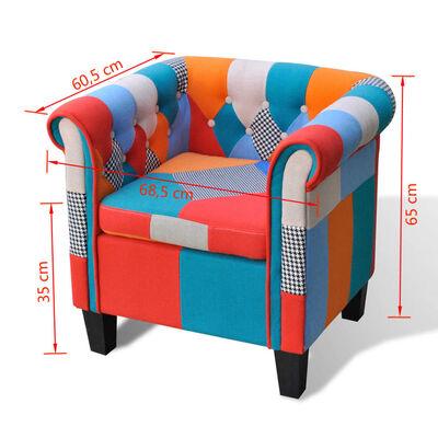 vidaXL Sillón con diseño de retales de tejido