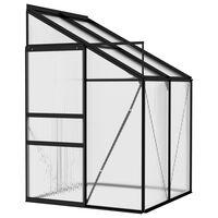 vidaXL Invernadero de aluminio gris antracita 2,59 m³