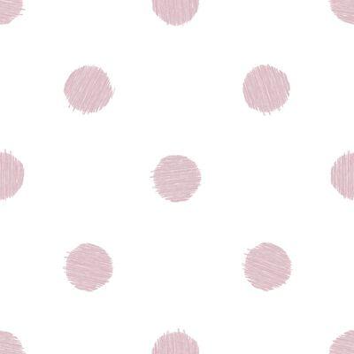 Urban Friends & Coffee Papel de pared puntos blanco y rosa