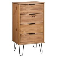 vidaXL Cajonera de madera de pino maciza 45x39,5x90,3 cm