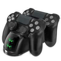 Cargador doble para dos controladores PS4 / PS4 Slim / PS4 Pro