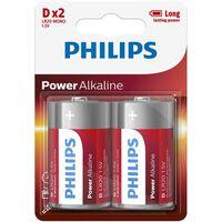 Power Alkaline D LR20, paquete de 2