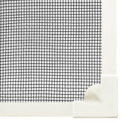vidaXL Mosquitera magnética para ventana blanco fibra vidrio 80x140 cm