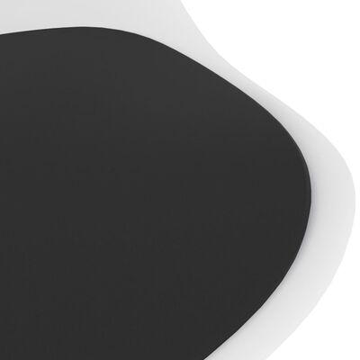 vidaXL Juego de comedor 3 piezas blanco y negro