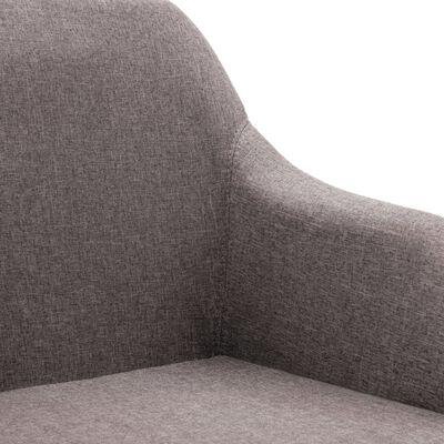 vidaXL Sillas de comedor giratorias 4 unidades tela color gris topo