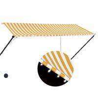 vidaXL Toldo retráctil con LED amarillo y blanco 300x150 cm