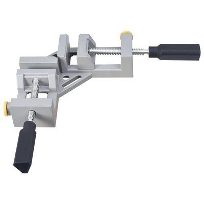 vidaXL Abrazadera en ángulo doble mango aluminio  95 mm